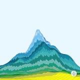 Fondo astratto con la montagna mosaico Fotografia Stock