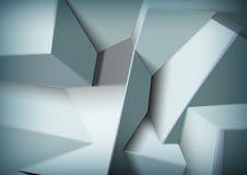 Fondo astratto con la sovrapposizione dei cubi neri Immagini Stock Libere da Diritti