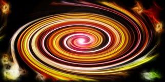 Fondo astratto con la spirale saturata succosa Immagine Stock