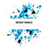 Fondo astratto con le forme geometriche del triangolo illustrazione vettoriale