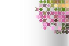 Fondo astratto con le forme geometriche irregolari Fotografia Stock Libera da Diritti
