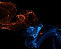 Fondo astratto con le linee di scorrimento nei colori del ghiaccio e del fuoco royalty illustrazione gratis