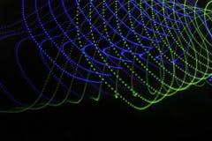 Fondo astratto con le linee ed i punti in blu e nel verde Fotografie Stock Libere da Diritti