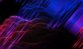 Fondo astratto con le linee ed i punti di colore di pendenza illustrazione di stock