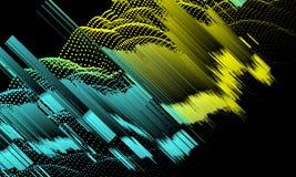 Fondo astratto con le linee ed i punti di colore di pendenza sul nero immagine stock