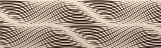 Fondo astratto con le linee ondulate Modello di progettazione della copertura Effetto dinamico illustrazione di vettore per l'ins illustrazione vettoriale