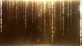 Fondo astratto con le luci dorate Ricerca progressiva, senza cuciture ciclo-capace illustrazione vettoriale