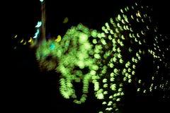 Fondo astratto con le luci e le stelle del bokeh Immagini Stock Libere da Diritti