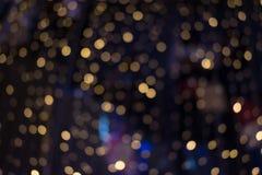 Fondo astratto con le luci gialle del cerchio fotografie stock