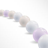 Fondo astratto con le palle brillanti perle di vettore Fotografia Stock