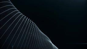 Fondo astratto con le particelle digitali delle onde sulle bande d'ondeggiamento Animazione di loopgood senza cuciture per introd royalty illustrazione gratis