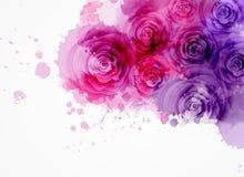 Fondo astratto con le rose Immagine Stock