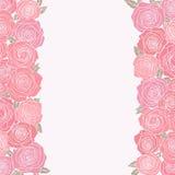 Fondo astratto con le rose Fotografie Stock Libere da Diritti