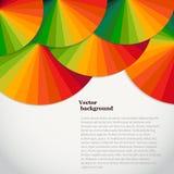 Fondo astratto con le ruote di spettro Templat luminoso dell'arcobaleno Immagini Stock