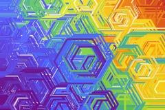 Fondo astratto con nei colori dell'arcobaleno illustrazione vettoriale