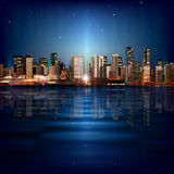 Fondo astratto con panorama di Vancouver Fotografia Stock Libera da Diritti