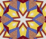 Fondo astratto con progettazione caleidoscopica geometrica ottenuta dalla parte multicolore dei petali del fiore di grande tappet illustrazione vettoriale