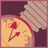 Fondo astratto con tempo e l'orologio Fotografie Stock Libere da Diritti