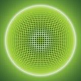 Fondo astratto con una palla di griglia progettazione techna 3d Vettore ENV 10 Fotografie Stock