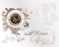 Fondo astratto con una tazza di caffè illustrazione vettoriale