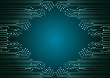 Fondo astratto; Concetto cyber di sicurezza di tecnologia Fotografie Stock Libere da Diritti