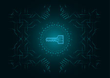 Fondo astratto; Concetto cyber di sicurezza di tecnologia Immagine Stock Libera da Diritti