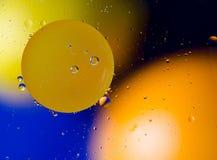Fondo astratto cosmico dell'universo dei pianeti o dello spazio Sctructure astratto dell'atomo della molecola Macro colpo di aria fotografia stock libera da diritti