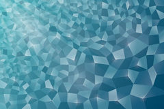 Fondo astratto, cristallo, blu Fotografia Stock