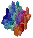 Fondo astratto cubico di progettazione illustrazione di stock