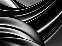 Fondo astratto d'argento nero del metallo del modello di onde Immagine Stock Libera da Diritti