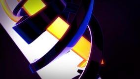 Fondo astratto 3D che gira le frecce di giallo blu scuro ed arancio Royalty Illustrazione gratis