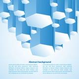 Fondo astratto 3d-dimensional Fotografie Stock