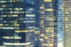 Fondo astratto dal primo piano di alta costruzione moderna nel busi Fotografia Stock Libera da Diritti