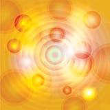 Fondo astratto dei cerchi di giallo, dell'oro e dell'arancia Fotografia Stock