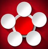 Fondo astratto dei cerchi - velluto rosso Fotografia Stock Libera da Diritti