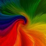 Fondo astratto dei colori vibranti di rotazione Fotografia Stock