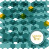 Fondo astratto dei cubi verdi con spazio Fotografia Stock Libera da Diritti