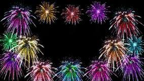 Fondo astratto dei fuochi d'artificio Fotografia Stock