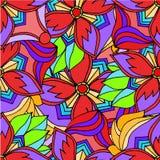 Fondo astratto dei modelli geometrici che disegnano rosso Immagini Stock Libere da Diritti