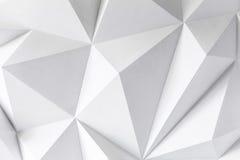 Fondo astratto dei poligoni su fondo bianco Immagini Stock