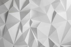 Fondo astratto dei poligoni su fondo bianco Immagine Stock