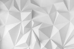 Fondo astratto dei poligoni su fondo bianco Fotografie Stock
