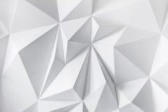 Fondo astratto dei poligoni su fondo bianco Immagine Stock Libera da Diritti