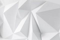 Fondo astratto dei poligoni su fondo bianco Fotografia Stock
