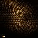 Fondo astratto dei punti del nero e dell'oro Fotografia Stock