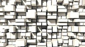Fondo astratto dei quadrati bianchi Fotografie Stock Libere da Diritti