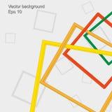 Fondo astratto dei telai quadrati colorful Fotografia Stock Libera da Diritti