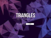 Fondo astratto dei triangoli illustrazione di stock