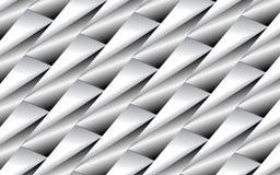 Fondo astratto dei triangoli metallici in 3D sopra una superficie dei tubi d'argento Fotografie Stock Libere da Diritti