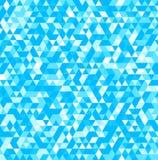 Fondo astratto dei triangoli nei colori blu Illustrazione di vettore Fotografie Stock Libere da Diritti